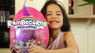 Rainbocorns Sequin Surprise Plush Surprise Egg!