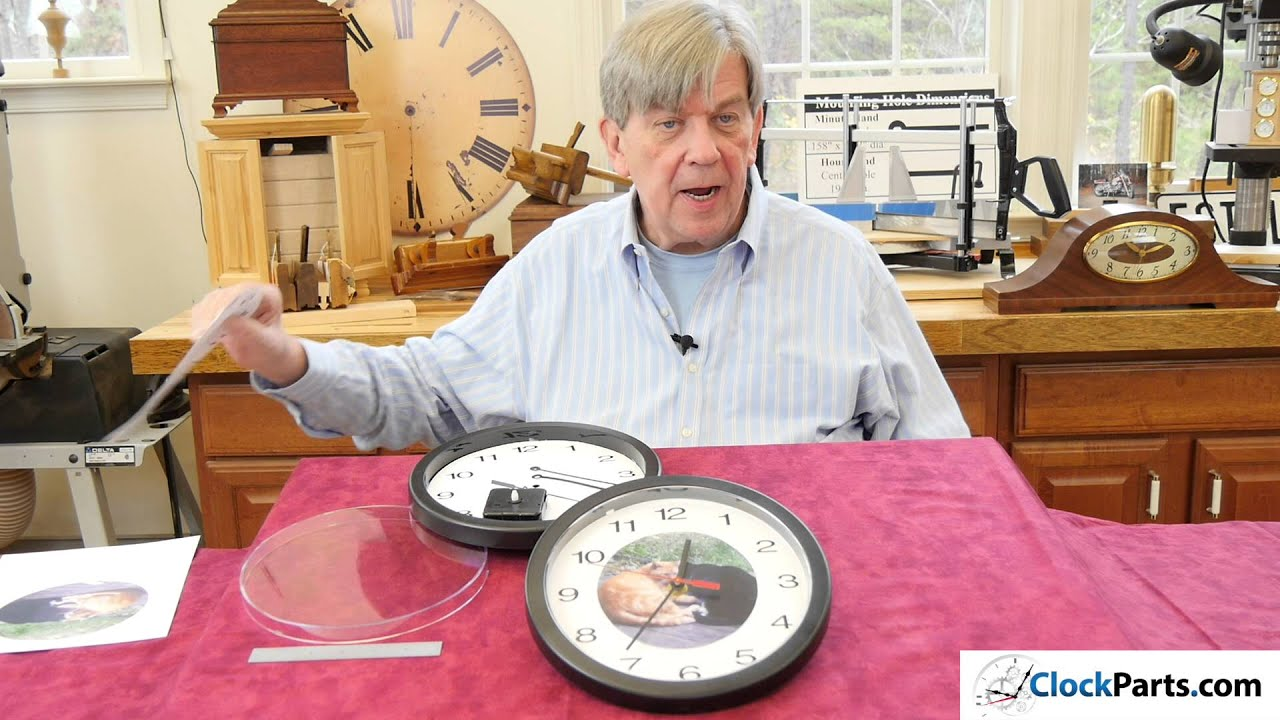 Diy clock kit to build a custom wall clock youtube amipublicfo Image collections