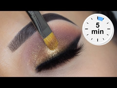 5 MINUTE Smoked Eye Look | Using Affordable Products thumbnail