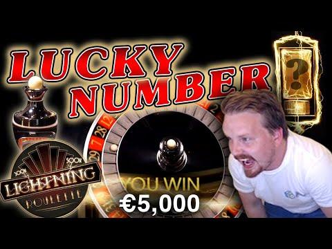 Winning €5000 on Lightning Roulette!