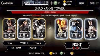 SHAO KAHN TOWER Ending -Last Stages #97-100 Gameplay -mortal Kombat x - update 1.11- iOS mobile mkx