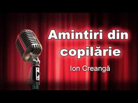Ion Creanga, Amintiri din copilarie, regia Vasile Manta, teatru radiofonic