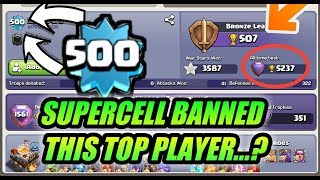 OMG WHY SUPERCELL BANNED THIS PLAYER. clash of clans