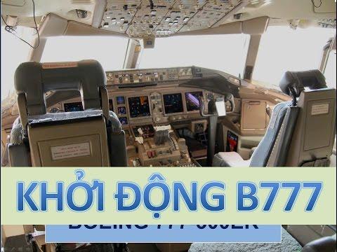 Khởi động máy bay Boeing 777  ✈✈✈