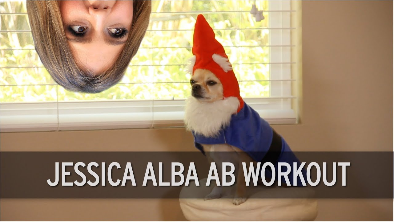 f4cfb05a73 Jessica Alba Ab Workout - YouTube