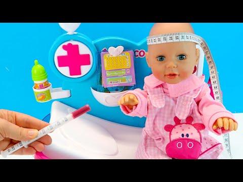 Уговариваю Беби Анабель Пройти Осмотр Как Мама Играла в Куклы Пупсики Мультики 108мама тв