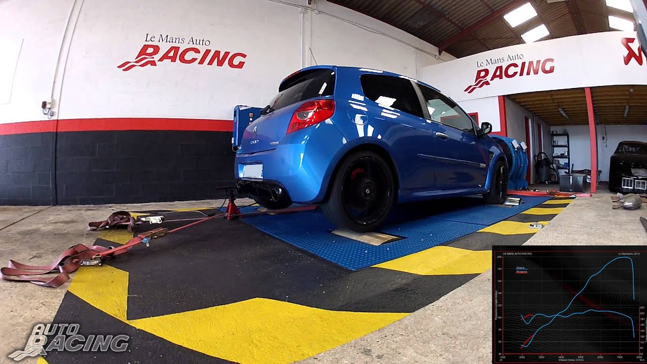 le mans auto racing ligne evolution akrapovic sur renault clio 3 rs. Black Bedroom Furniture Sets. Home Design Ideas