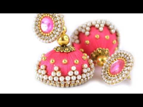 Types of silk thread jewellery.....latest trendy fashion tut