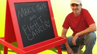 Make this easel by December 9 and Marc and I will each donate $5 to CancerCare. Free plans and more info on how you can get