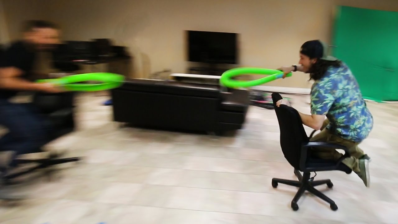 office chair jousting youtube