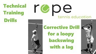 Technical Training - Corrective Drill for a Serve with a loopy Backswing and a Lag