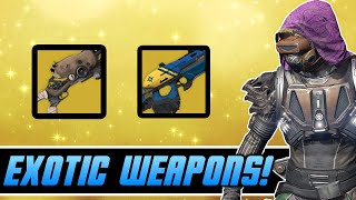 Destiny - New Exotic Weapons! | House of Wolves DLC Shotgun / Scout Rifle