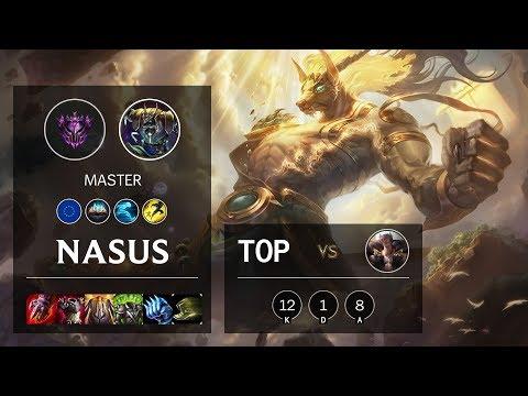 Nasus Top Vs Sett - EUW Master Patch 10.10