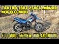 $1300 NEW 2019 TAOTAO TBR7 230cc FULL REVIEW build ride mods Dual-Sport Pros Cons.