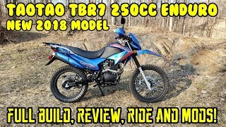 $1300 NEW 2019 TAOTAO TBR7 230cc FULL REVIEW build ride mods Dual-Sport Pros Cons.