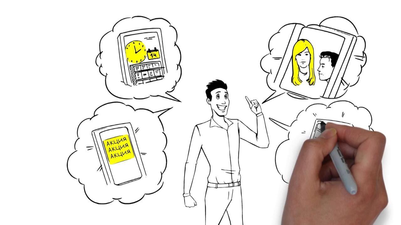Мобильное приложение для бизнеса - как это работает - YouTube