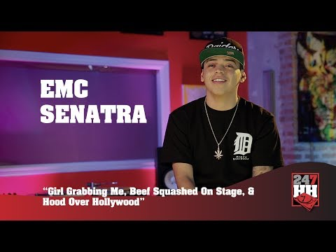 EMC Senatra - Girl Yanked Me, Beef Squashed On Stage & Hood Over Hollywood(247HH Wild Tour Stories)