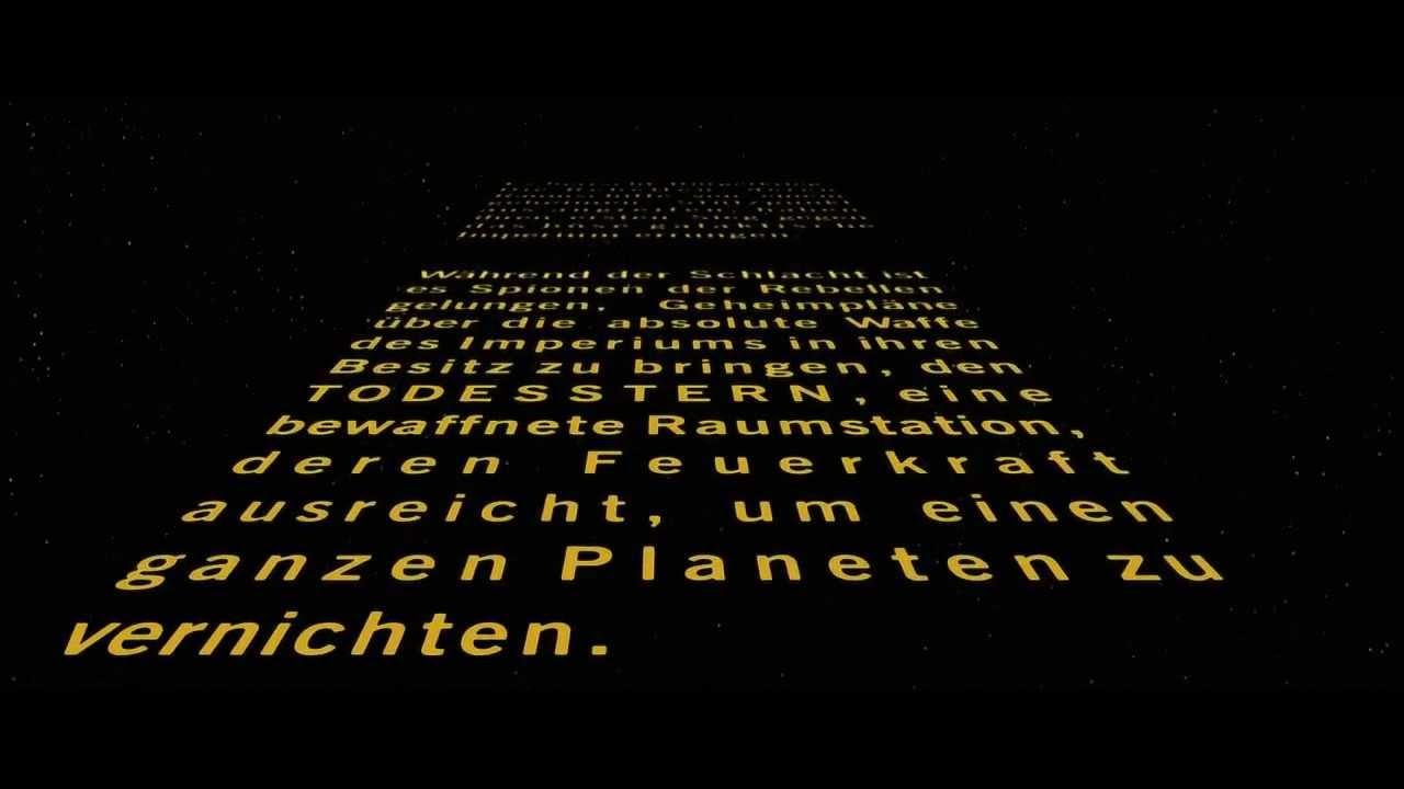 Krieg Der Sterne 1977 Original Intro Deutsch Hd Youtube