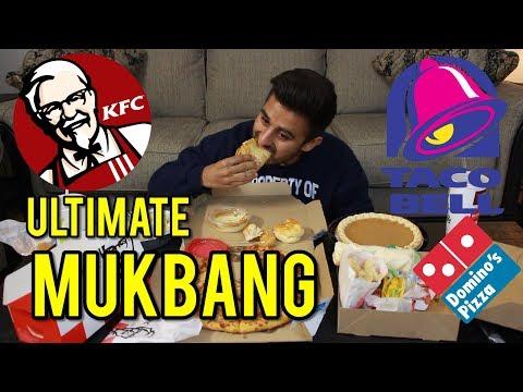 ULTIMATE DOMINOS PIZZA, PASTA, TACO BELL, & KFC MUKBANG | Eating Show