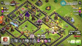 Giant & wizard th9: Best attack strategy (Trophy pushing strategy)