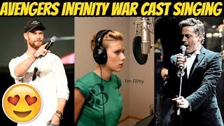 Avengers Infinity War Cast Singing Ft. Robert Downey Jr., Chris Hemsworth & Scareltt Johansson