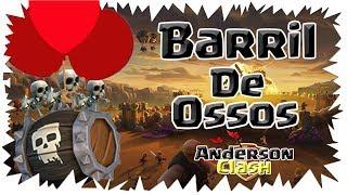 CLASH OF CLANS - CUMPRINDO O DESAFIO DO BARRIL DE OSSOS E ( GANHEI 200 GEMAS )