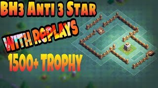 BH3 Anti-3 star base|Builder Hall 3 Base|BH3 Base|Anti Boxer Giant Base|Best BH3 base|With Replays