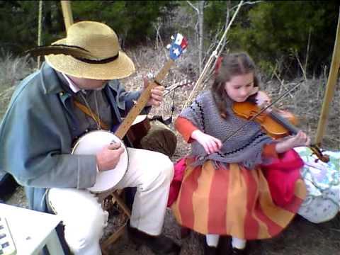 Best Civil War Fiddler Banjo Player Duo! Come Back Katy