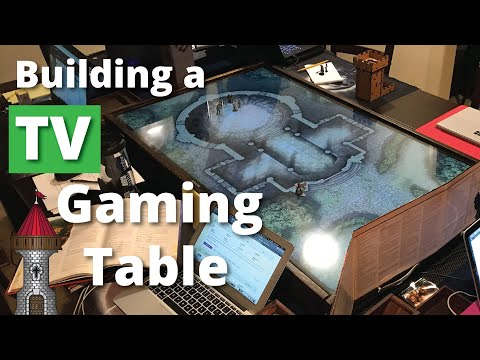 Building A TV Case For Your D&D Gaming Table For Digital Maps
