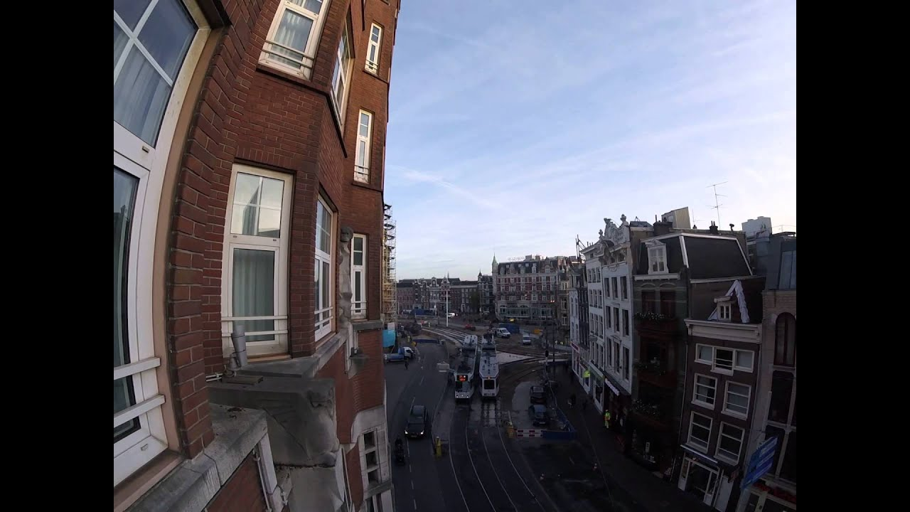 View from hotel room in nh carlton amsterdam youtube for Nh hotel amsterdam