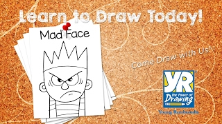 Teaching Kids How to Draw: How to Draw a Mad Face