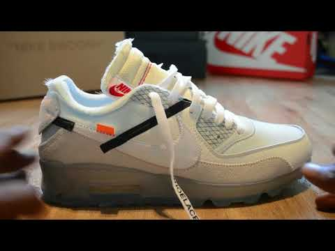 Virgil's Nike Air Max 90 Off White close up