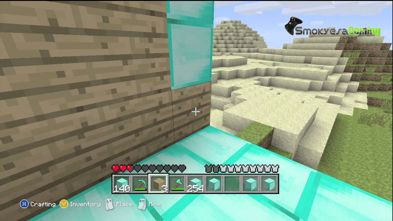 Minecraft para xbox 360 con subs 3 la casa de diamantes for Casa moderna xbox 360 minecraft