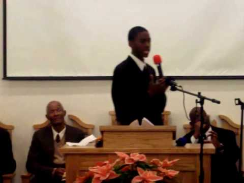 16 year old preacher Darnell Gordon (Sabbath Sermo...