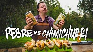 """¿Chimichurri o Pebre? nuestro """"Honorable Jurado"""" elige su Choripán favorito."""