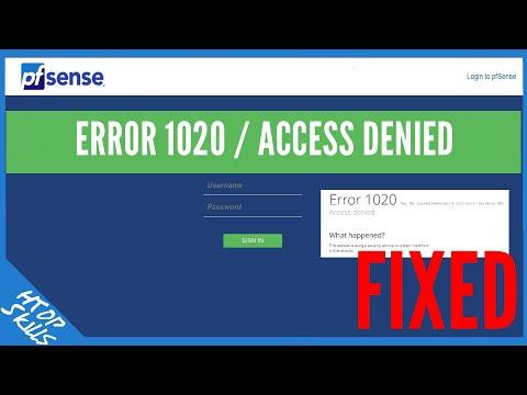 Error 1020 / Access Denied / Tech Tips
