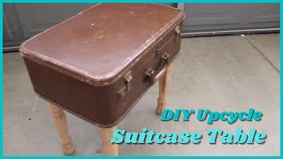 Upcycle: Vintage Suitcase to Clever Table