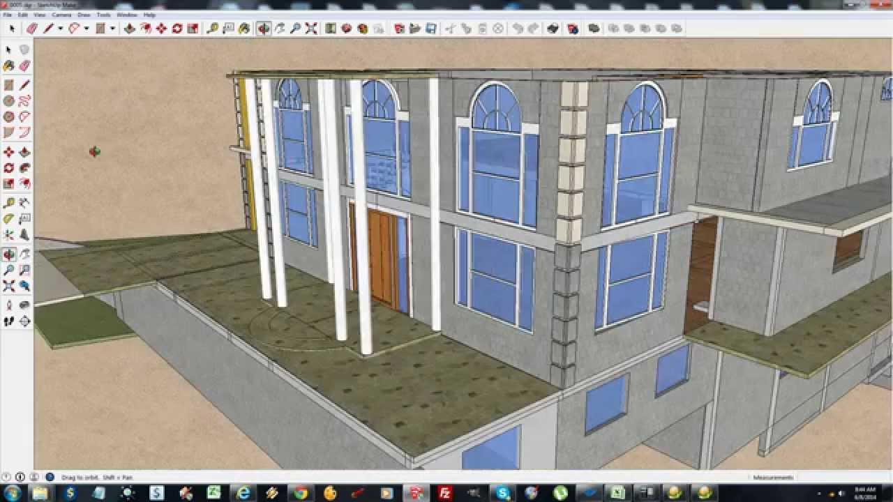 House building in jamaica part 30 sketchup house youtube for Building a house in jamaica
