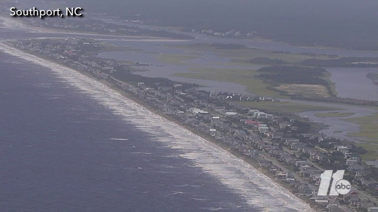 Aerial Footage Of The Beaches At Southport Nc Youtube