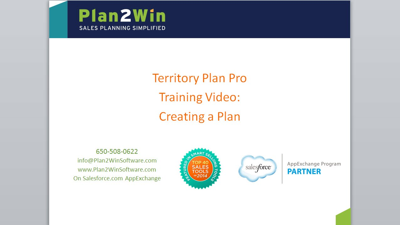 Territory Plan Pro training: creating a plan - YouTube