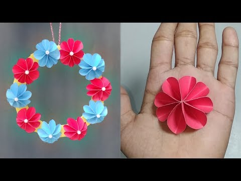 Paper Craft Ideas। Wall Decoration। Simple Home Decor। Wallmate making। Hanging Flower