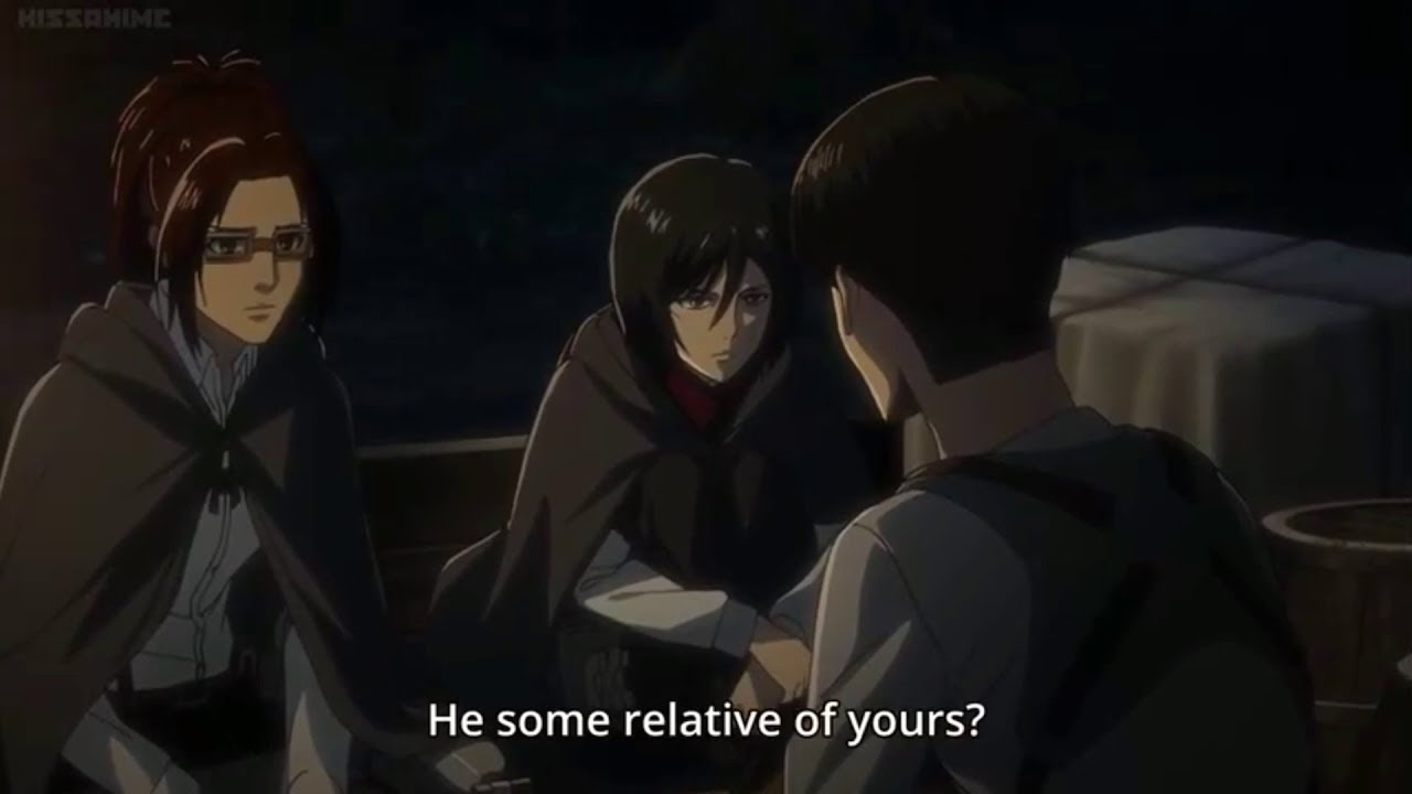 Levi And Mikasa Talk About The Ackerman Family English Sub Aot Season 3 Youtube
