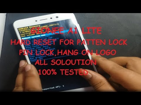 GIONEE A1 LITE HARD RESET FOR PATTEN LOCK SOLUTION ANDROID 7 0