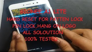 GIONEE A1 LITE HARD RESET FOR PATTEN LOCK SOLUTION ANDROID 7.0