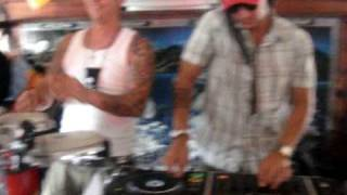 DAVID LAURENTINI & DANGER BEAT ( PERCUSION )@BOAT FUN PARTY 4 ( PUERTO COLON ) 11/04/09