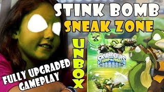 Stink Bomb Unboxing + Sneak Zone + Fully Upgraded Gameplay (Skylanders Swap Force) Wave 3