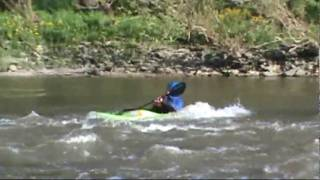 Little Miami River - Surfing and Rolling
