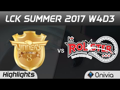 E8W vs KT Highlights Game 2 LCK SUMMER 2017 Ever8 Winners vs KT Rolster By Onivia