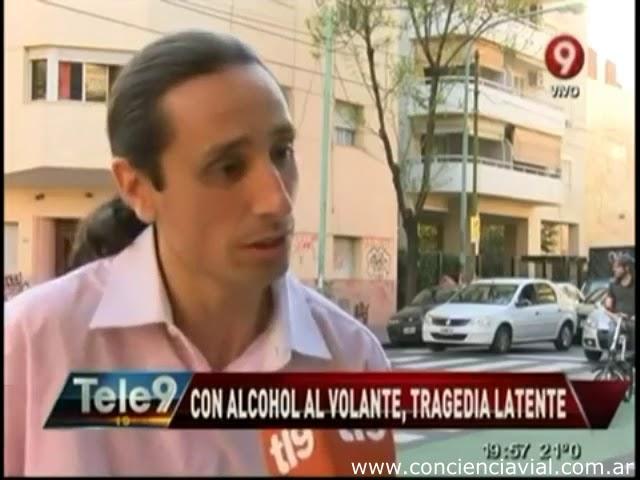 2014 - Canal 9 - Informe y entrevista a Axel Dell' Olio sobre el alcohol al volante