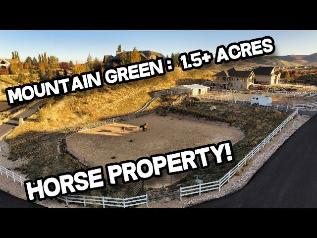 Mountain Green Utah Horse Property for Sale: 5-car garage, 1.5+ acres (Real Estate)